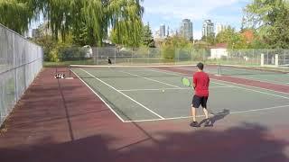 10/21/17 Tennis - Match Highlights + A few serves