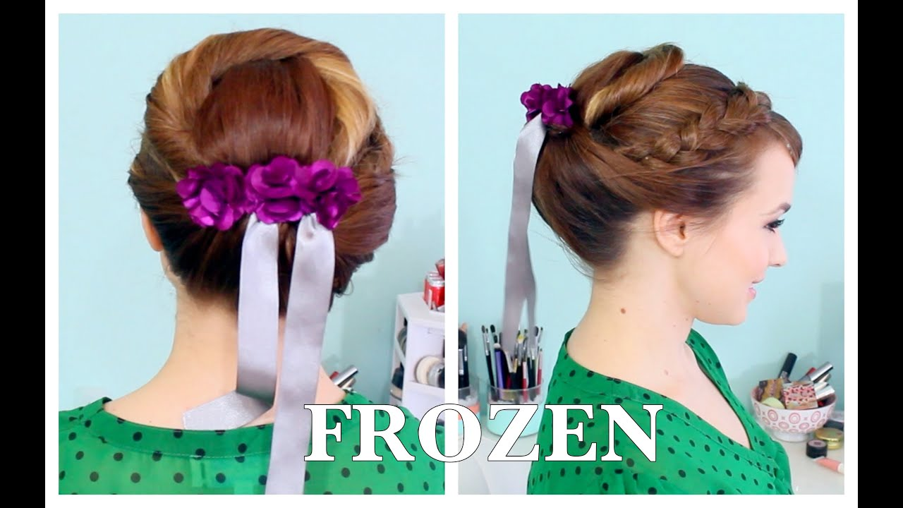 Annas Coronation Updo From Frozen Februhairy Day 5 Youtube
