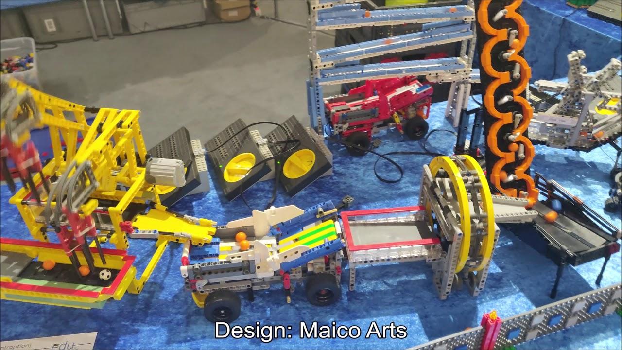 LEGO Great Ball Contraption GBC in Deutsches Museum in Bonn, 2020 edition