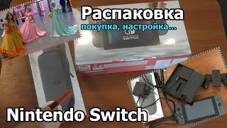 nintendo Switch: покупка, распаковка и настройка
