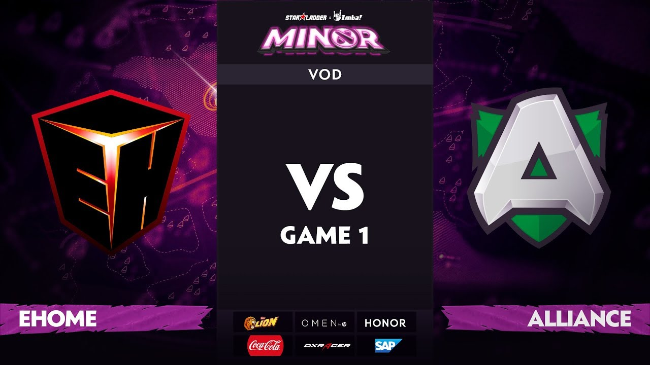 [RU] EHOME vs Alliance, Game 1, StarLadder ImbaTV Dota 2 Minor S2 Group Stage
