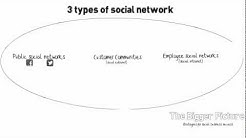 3 types of social networks