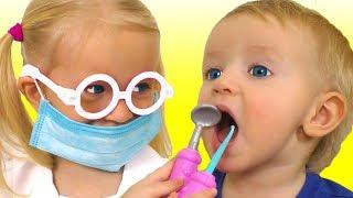 Dentist Song на русском | Детская песня про дантиста | Песни для детей от Кати и Димы