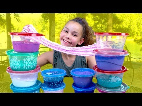 Thumbnail: Huge Slime Collection Review! (Haschak Sisters)