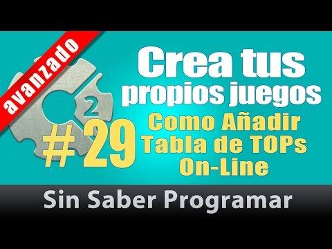Construct 2 tutorial Español #29. Como Añadir Tabla de TOPs OnLine