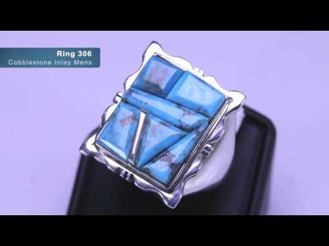 SSJ Rings   Cobblestone Inlay Mens 9 20 16 1