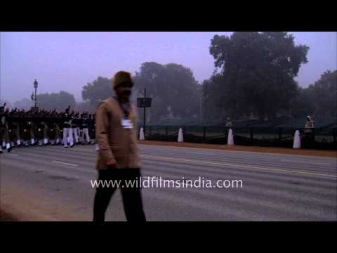 NCC cadets rehearse for the Republic Day at Rajpath