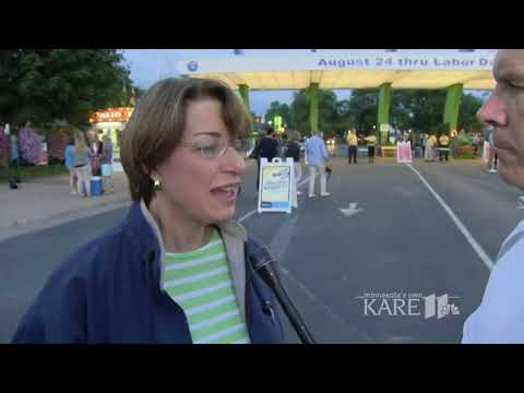 Senator Amy Klobuchar at the Minnesota State Fair