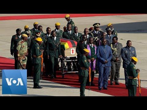 Zimbabwe Founder Robert Mugabe's Body Arrives Home