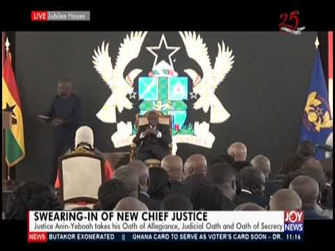 Live; Swearing-In Of New Chief Justice - Joy News Today(7-01-20)