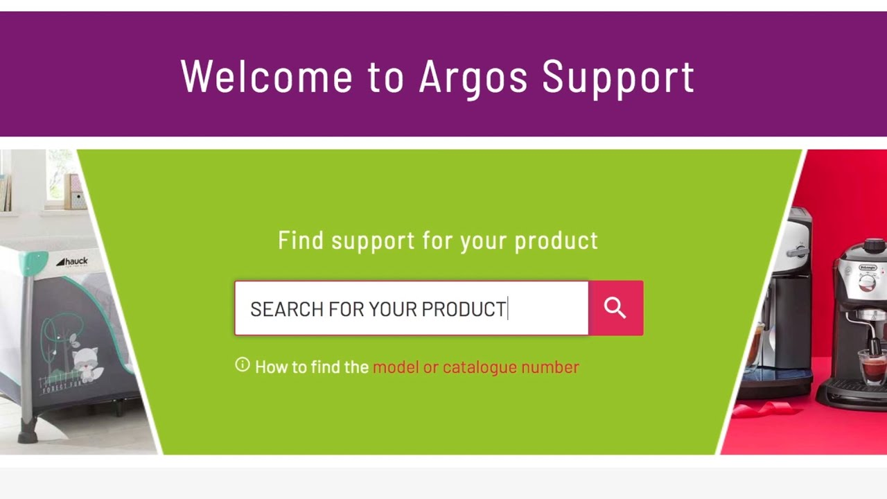 Argos Support   Find support, manuals