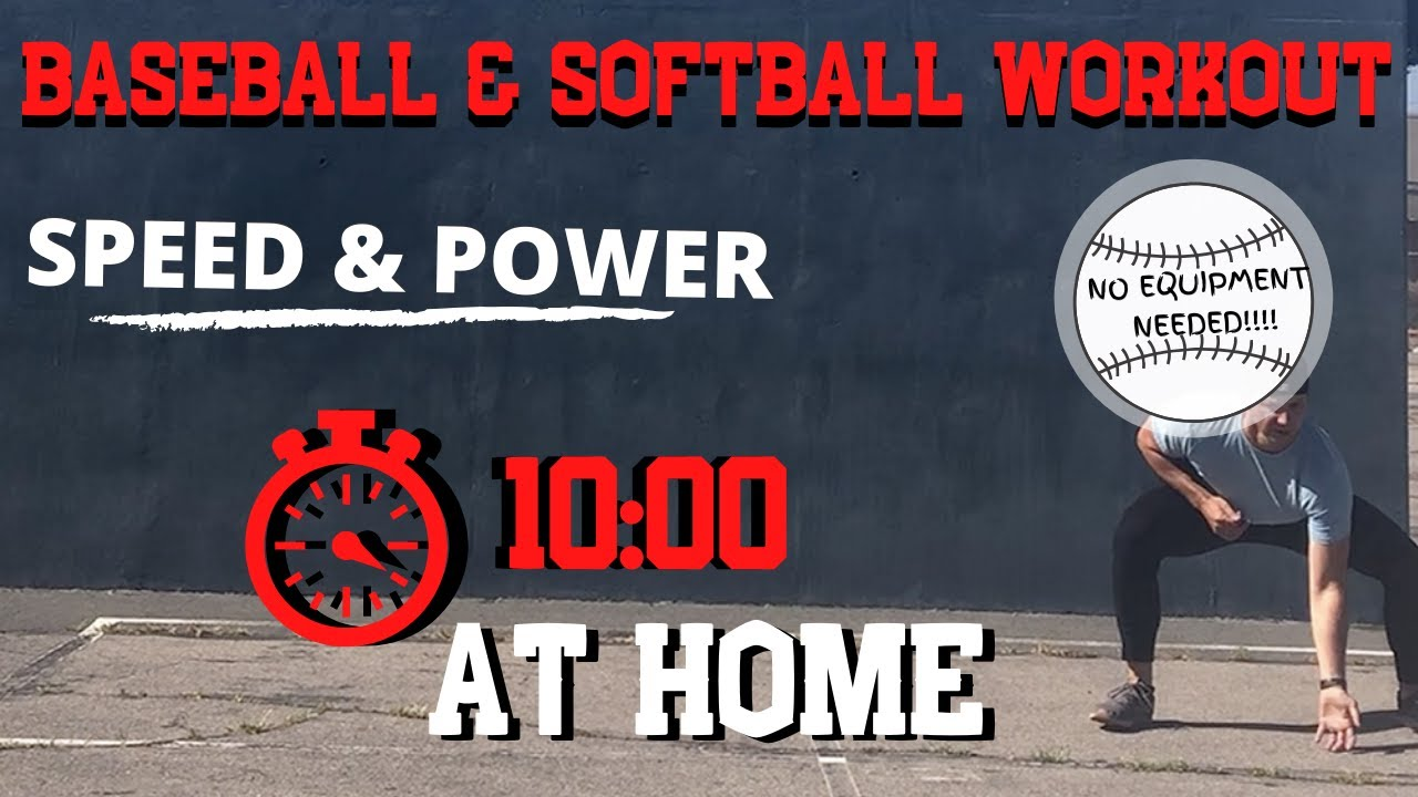 10 MIN. (AT HOME) BASEBALL AND SOFTBALL WORKOUT {MLB PLAYER} FOLLOW ALONG. NO EQUIPMENT EXERCISE.