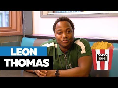 "Leon Thomas Talks Issa Rae F-Buddy Scenes, Working w/ Robin Williams & Ariana Grande On ""Scene It"""