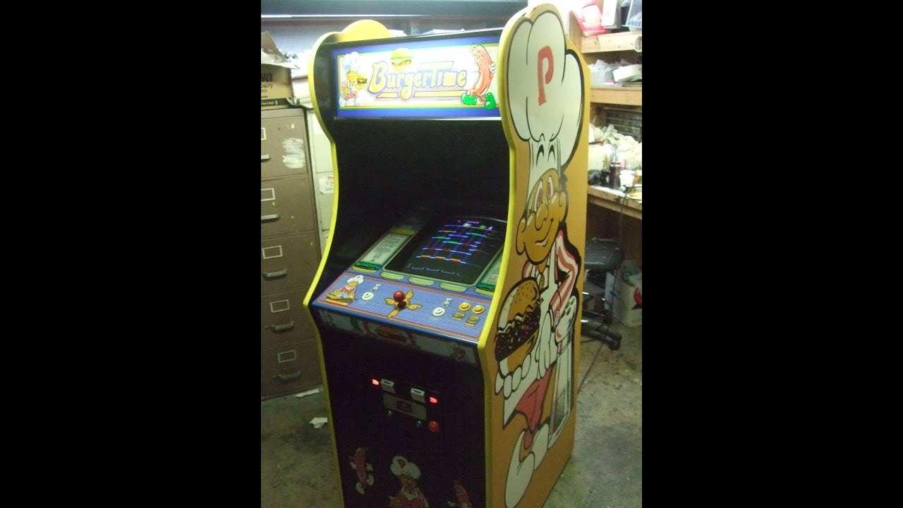 355 Bally Midway BURGERTIME Arcade Video Game - Terrific Side Art ...
