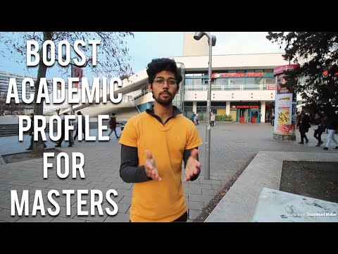 How to boost academic profile for Master's application (Tuition free masters)