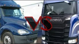 Scania VS Freightliner-Which truck is Stronger? Just For Fun