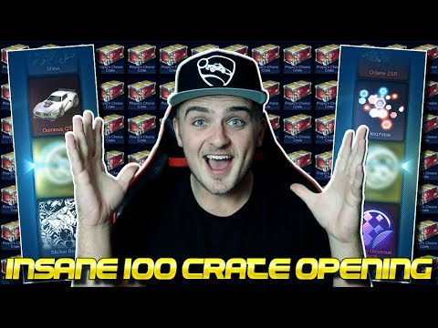 MORE AND MORE PAINTED EXOTICS! - OPENING 100+ NEW PLAYER'S CHOICE CRATES IN ROCKET LEAGUE