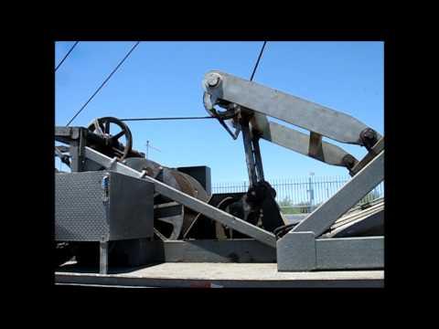 Hunke 50T Pump Hoist Walking Beam Spudder