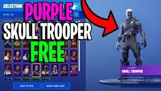 Purple Skull Trooper FREE Glitch In Fortnite 2019 Season 7........
