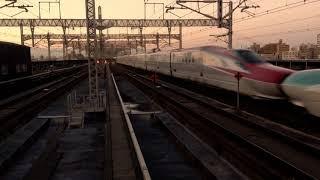 夕暮れの大宮駅 新幹線ホーム