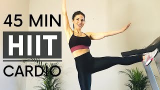 45 Min Low Imṗact HIIT Workout/High Intensity/Low Impact Cardio Workout/Intermediate/Andrea Stephens