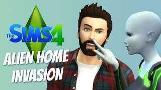 ALIEN HOME INVASION - The Sims 4 Funny Highlights #21