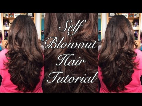 SELF BLOWOUT HAIR TUTORIAL | Ms. Laris Beauty
