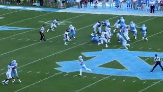 2016 James Madison defense vs North Carolina offense (College Football)
