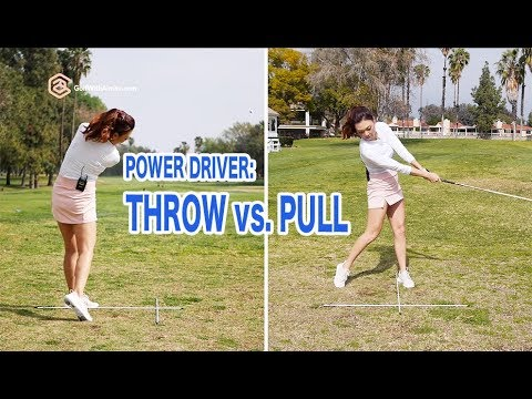 Power Driver - Throw vs. Pull | Golf with Aimee