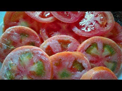 Как заморозить помидоры на зиму свежими в морозилке