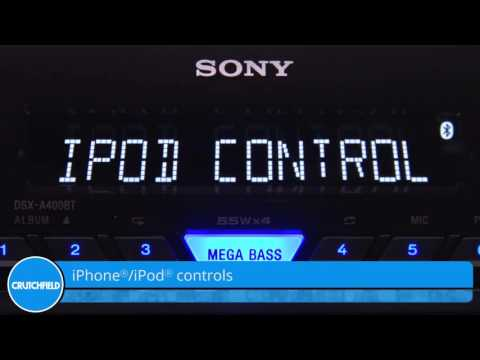 Sony DSX-A400BT Display and Controls Demo | Crutchfield Video