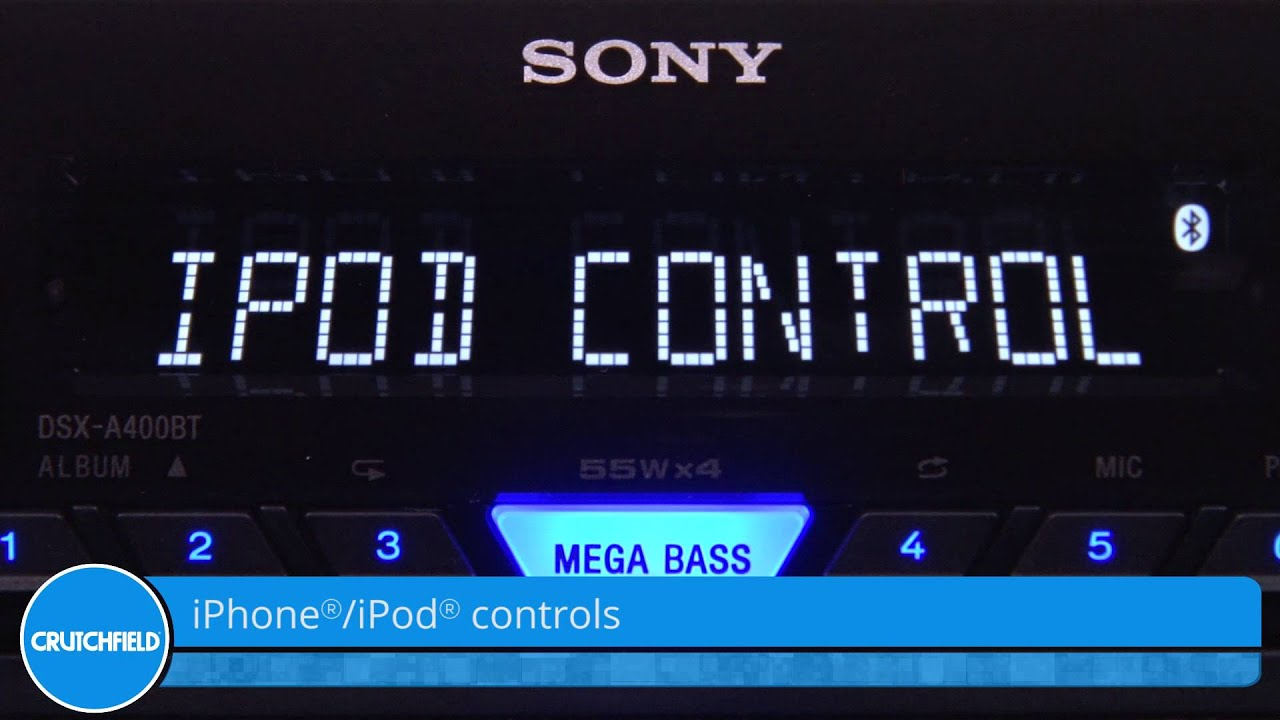 sony dsx a400bt display and controls demo crutchfield video [ 1280 x 720 Pixel ]