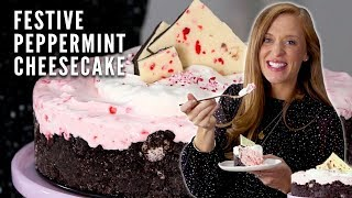 Delicious Peppermint Cheesecake | Christmas Dessert | Katie Jacobs