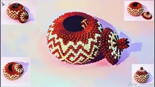How to make 3d origami Basket 32