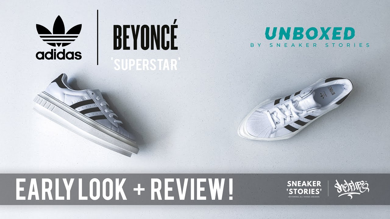Subvención transacción Muelle del puente  UNBOXED! adidas x Beyoncé Superstar (Early Review + Unboxing) - YouTube
