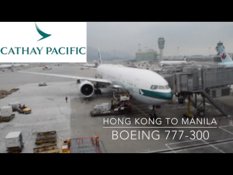 (MJT GLOBAL) HONG KONG TO MANILA - CATHAY PACIFIC - BOEING 777-300 (19K PHILIPPINES TRIP)
