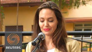 Angelina Jolie marks World Refugee Day in Kenya