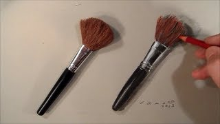 Realism Challenge #5 Drawing a Makeup Brushes, Time Lapse
