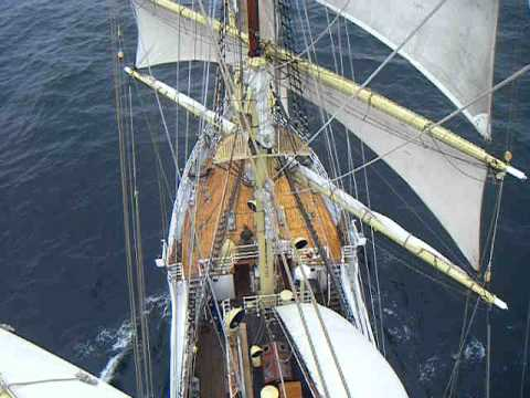up the mast of the Sorlandet