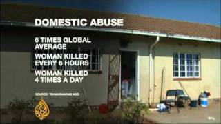 South Africa's government criticised on its domestic abuse record.