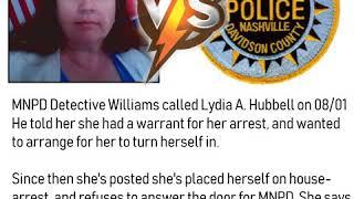 MNPD Detective Williams calls Lydia Hubbell re: arrest warrant