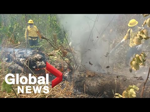 Firefighters tackle fires