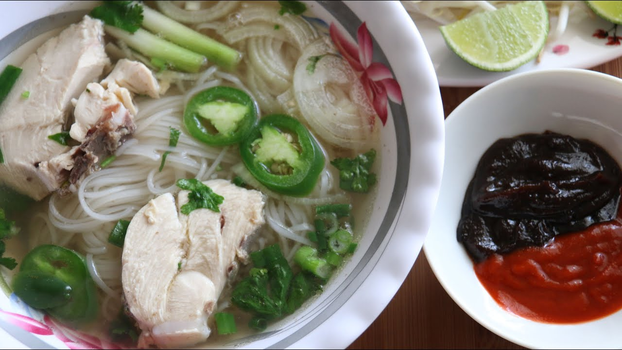 Pho Ga (Vietnamese Chicken Noodle Soup) Recipe - YouTube