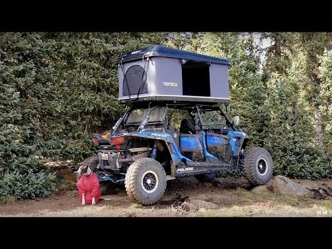 RZR Side X Side Remote Wilderness Lake Trout Fishing & Camping Roof Top Tent