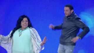 شاهد..رقصة أحمد الفيشاوى وشيماء سيف على أغنية 'ادينى رمضان'