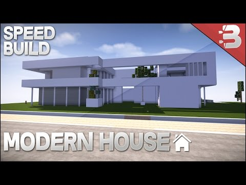 ✔ Minecraft: Modern House Speed Build W/ SmithersBoss