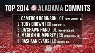Alabama football recruiting 2014: early impact freshmen, recruiting class breakdown
