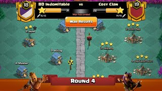 Clan War Leagues Season 3 - Round 4 - Clash of Clans New TH2 War Strategy