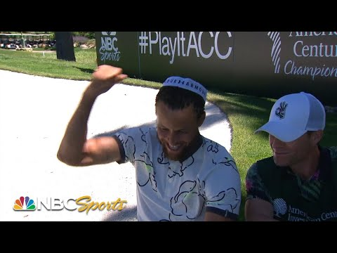 Dell And Steph Curry Break Even On Father-son Bet At American Century Championship | NBC Sports