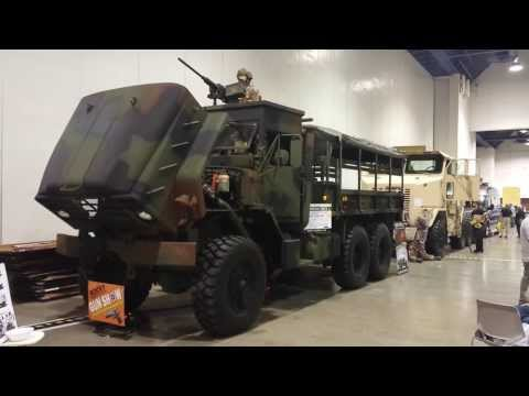 "survival trucks by ""plan B supply"" at the Las Vegas Gun Show"